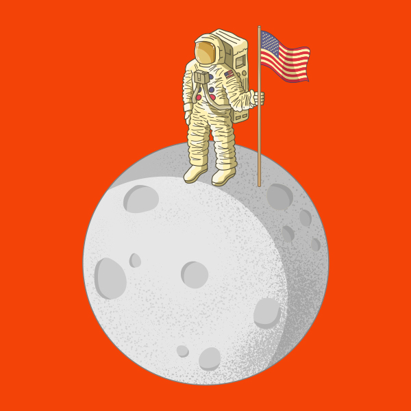 """""""That's one small step for man, one giant leap for mankind."""" - Neil Armstrong"""