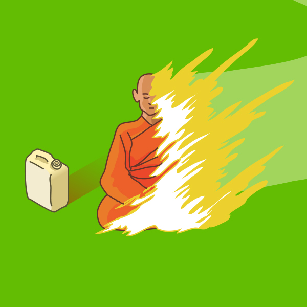 Vietnamese Buddhist monk burned himself to death in protest of the persecution of Buddhists by the South Vietnamese government